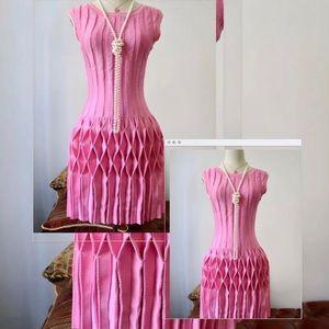 NWOT fabulous ALAIA pink knit dress size Xs
